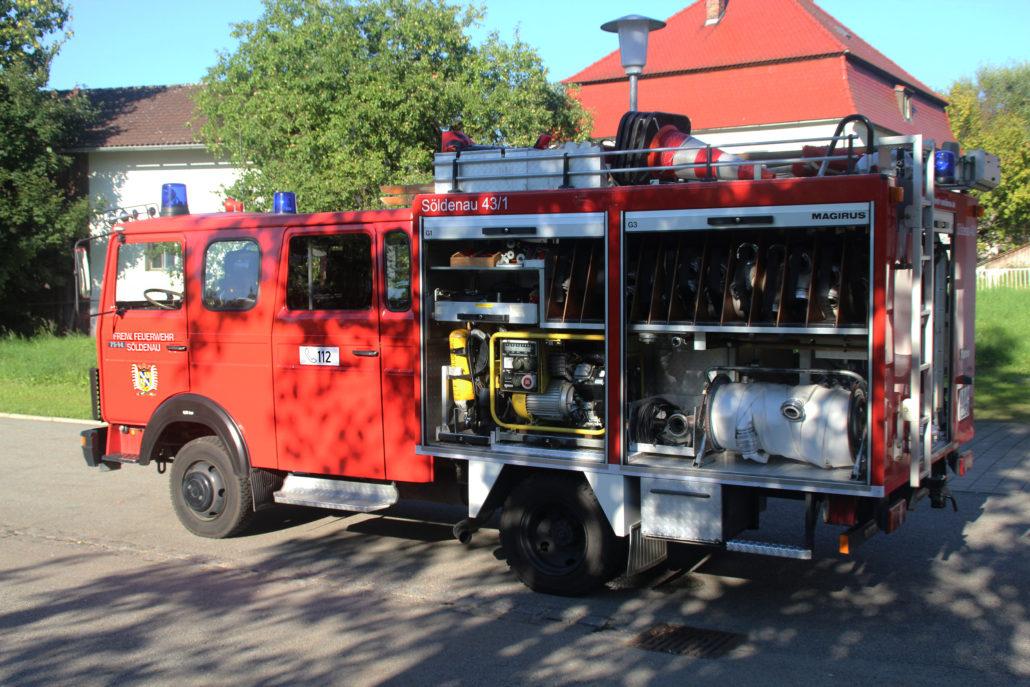 Feuerwehrauto - Fahrerseite
