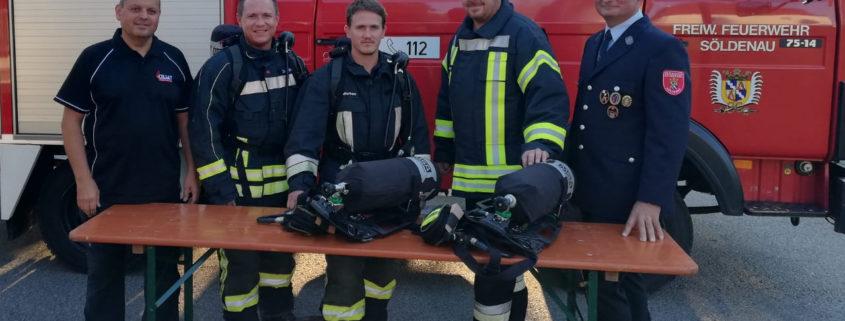 Neue Atemschutzgeräte für die Freiwillige Feuerwehr Söldenau